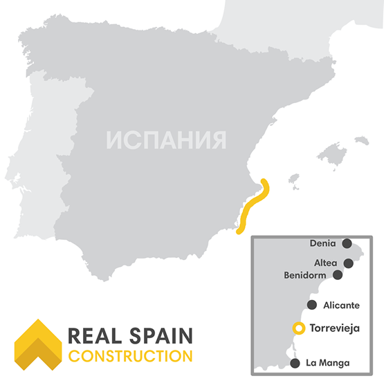 real spain map
